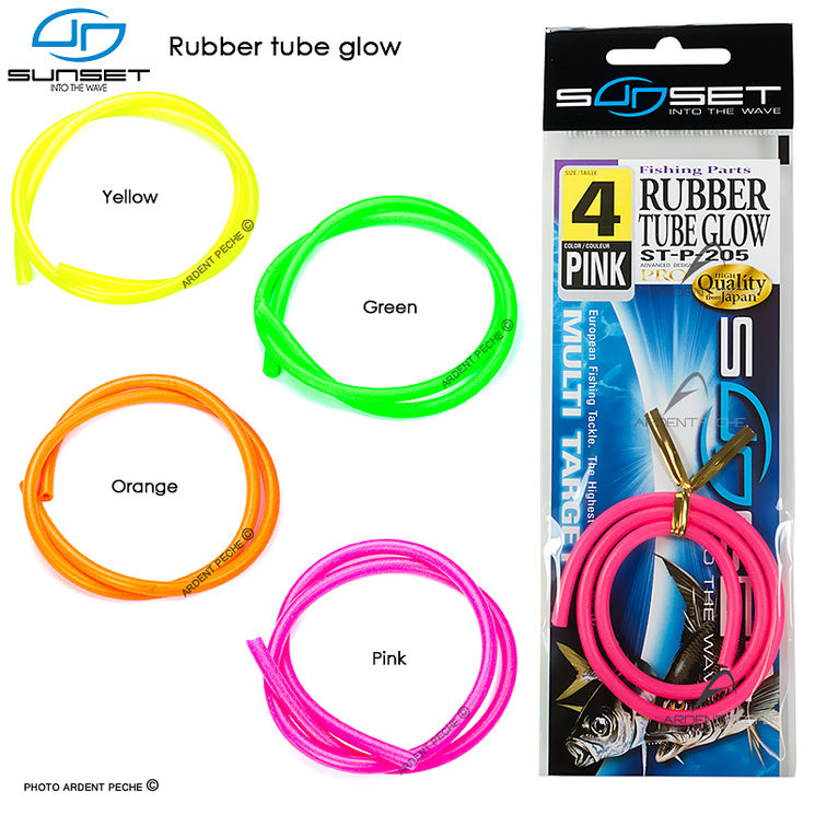 Gaine caoutchouc SUNSET Rubber tube glow