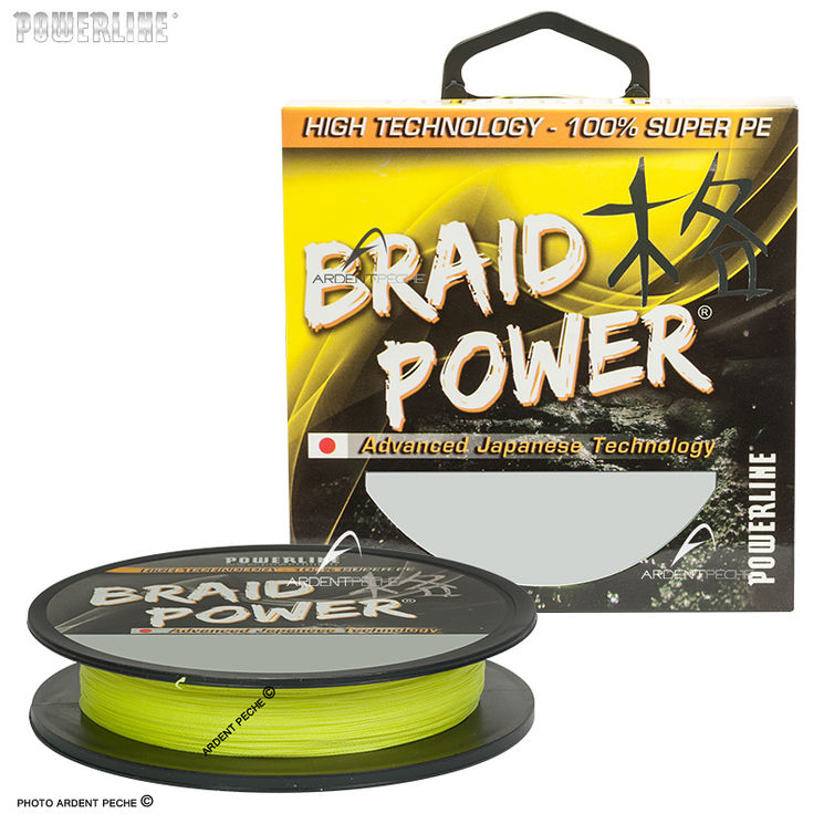 Tresse POWERLINE Braid power jaune 130m