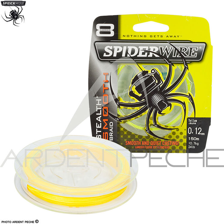 Tresse SPIDERWIRE Stealth smooth 8 Yellow 150m