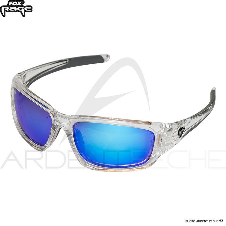 Lunettes polarisantes FOX RAGE Transparente Finition bleue miroir Verres  ambre 694fe4066e9e