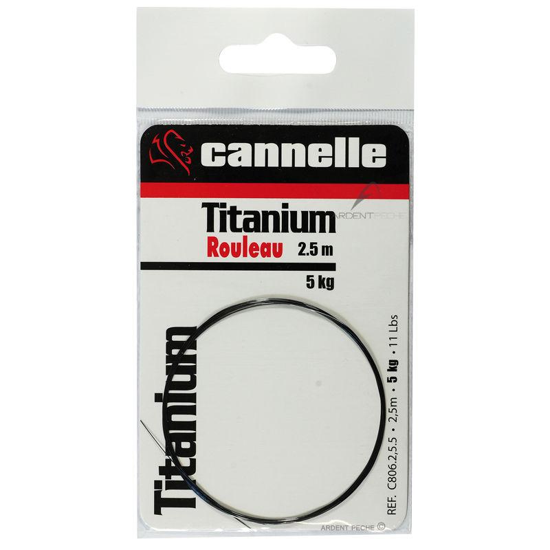 rouleau cannelle titanium 2 5m bas de ligne carnassier accessoires carnassier ardent p che. Black Bedroom Furniture Sets. Home Design Ideas